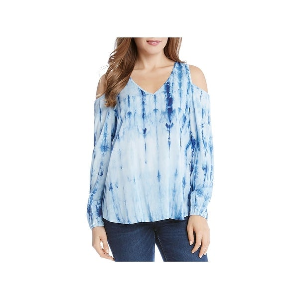 25db27e1054 Shop Karen Kane Womens Casual Top Tie-Dye Cold Shoulder - Free Shipping On  Orders Over $45 - Overstock - 23595513