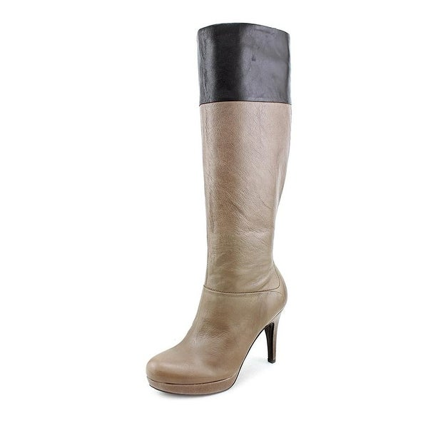 Marc Fisher Womens SASHI Leather Almond Toe Over Knee Fashion Boots
