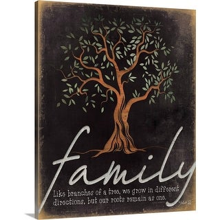 """""""Family - Like Branches of a Tree"""" Canvas Wall Art"""