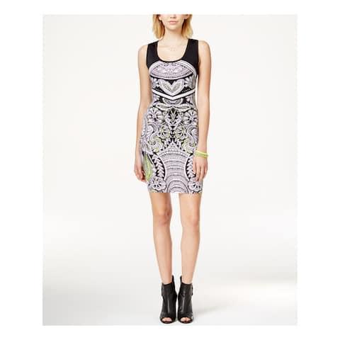 RAMPAGE Womens Black Sleeveless Scoop Neck Above The Knee Sheath Dress Juniors Size: XS