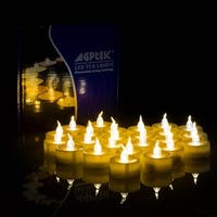 AGPtek Lot of 100 Battery Operated Amber Yellow Tea Light LED Candles