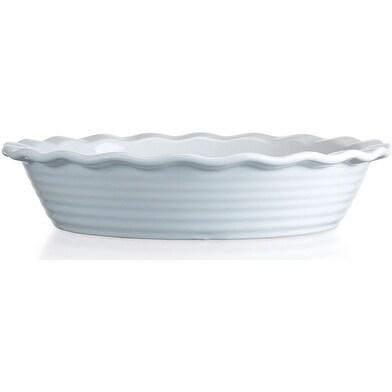 Palais Dinnerware Tarte' Collection Ceramic Pie Dish 10 Diameter White
