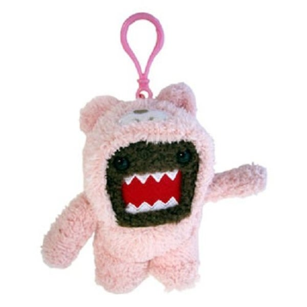 "Domo 4"" Plush Clip-On: Domo (Pink Bunny Suit) - multi"