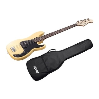 Monoprice Indio Pubb Bass - Blonde, with Gig Bag