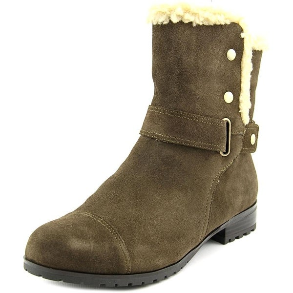 Giani Bernini Lotii Women Round Toe Suede Green Winter Boot