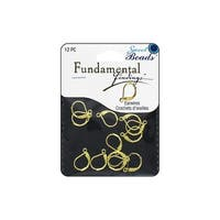 Sweet Beads Fund Find Lever Back 12pc Gold