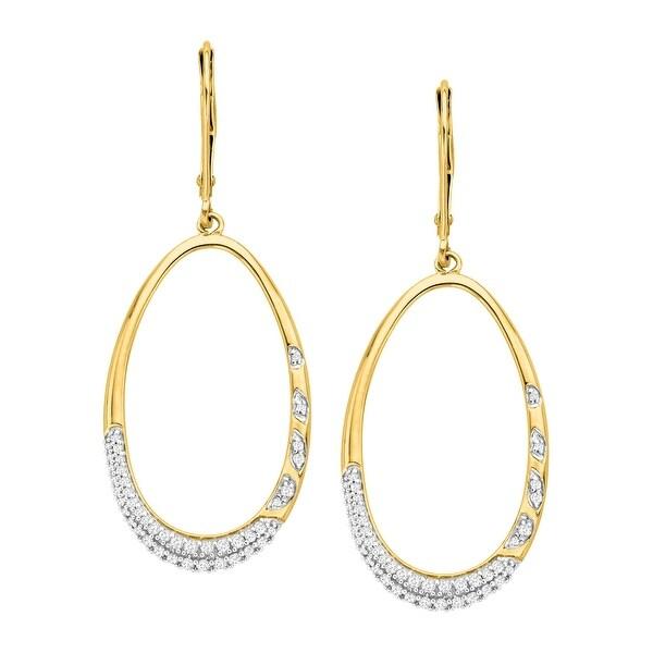 3/8 ct Diamond Drop Earrings in 14K Gold