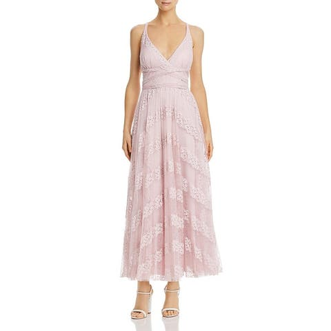 Laundry by Shelli Segal Womens Formal Dress Pleated Lace - Blush
