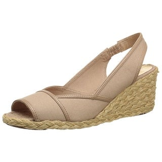 LAUREN by Ralph Lauren Womens Catrin Cotton Peep Toe Casual Espadrille Sandals