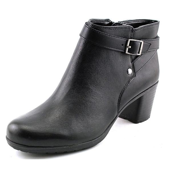 Easy Spirit Adino Women  Round Toe Leather Black Ankle Boot