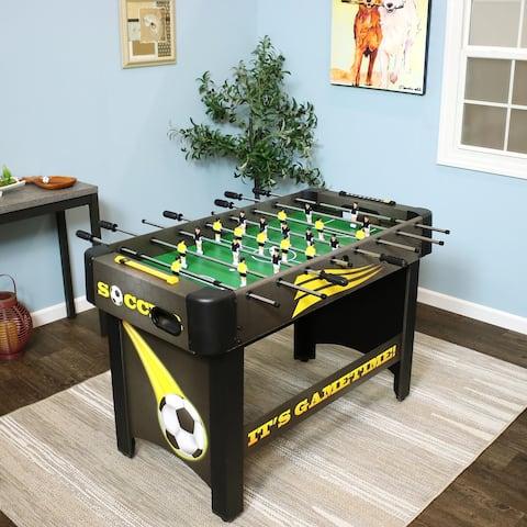 48-Inch Foosball Soccer Game Table Top Foosball Game Room Table