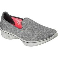 Skechers Women's GOwalk 4 Achiever Slip On Walking Shoe Gray