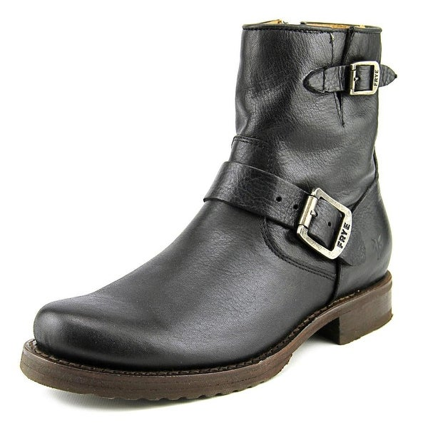 "Frye Veronica 6"" Shortie Women Round Toe Leather Black Boot"