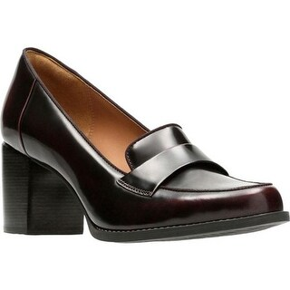be868b55deb2 Shop Clarks Women s Tarah Grace Loafer Burgundy Full Grain Leather - On  Sale - Free Shipping Today - Overstock - 17417402