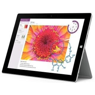Microsoft Surface 3 64GB 4G LTE Unlocked Tablet w/ WIndows 10 Pro - Silver (No Keyboard) (Certified Refurbished)