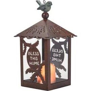 Precious Moments 142278 12 in. Bless This Home Lantern-LED with Candle