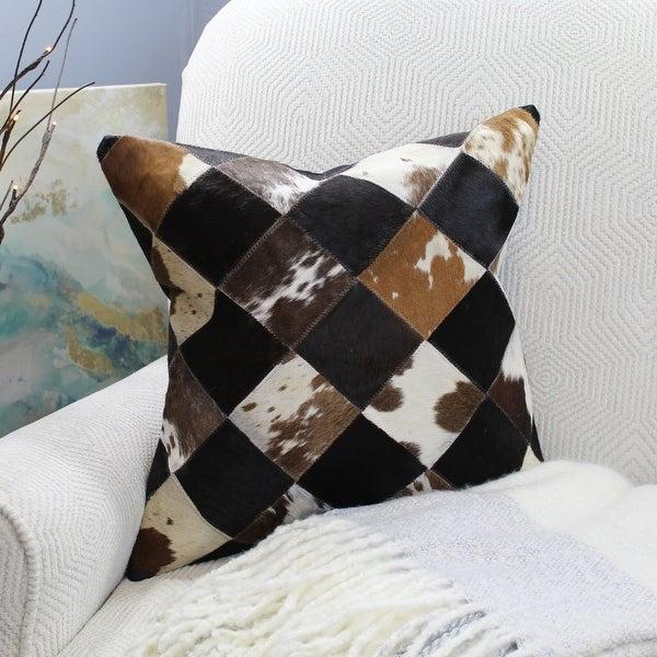 Natural Geo Black/Brown/White Geometric Diamond Throw Pillow. Opens flyout.