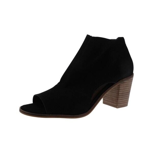 Lucky Brand Womens Kasima Booties Open Toe Ghillie Block