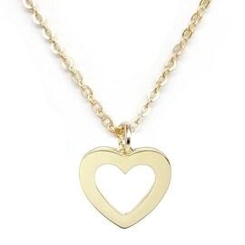 "Julieta Jewelry Heart Gold Charm 16"" Necklace"
