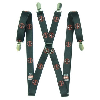 "Deadpool 1"" Suspenders - Black - One Size Fits most"