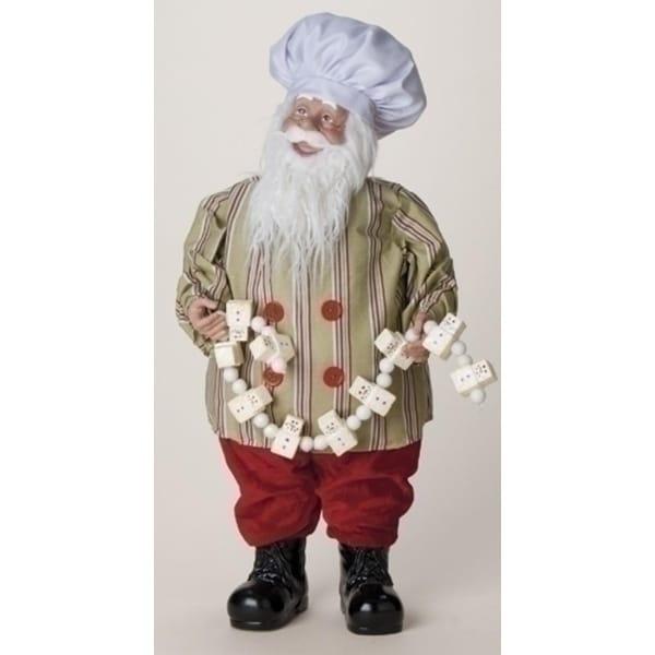 "24"" Sweet Memories Baker Santa Claus Christmas Figure with Marshmallow Garland"