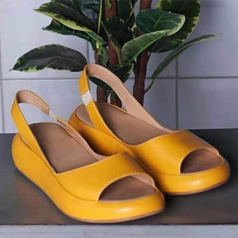 Fashion Fish Mouth Flat Women's Sandals Plus Size