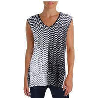 Vince Camuto Womens Casual Top Ombre Sleeveless