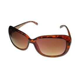 Ellen Tracy Womens Sunglass 537 1 Tortoise Rectangle Plastic, Gradient Lens - Medium
