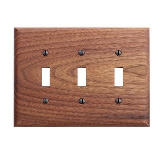 Switchplate Walnut Triple Toggle
