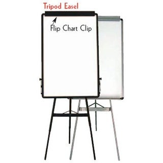Aarco Products TE1BK Portable Whiteboard Easels Tripod Easel - Black