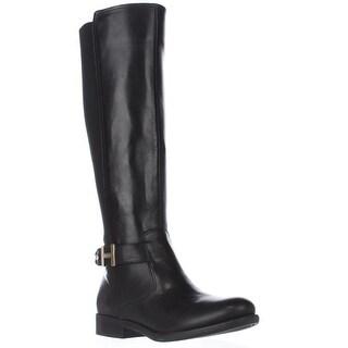 Tommy Hilfiger Suprem Knee High Riding Boots, Black Multi
