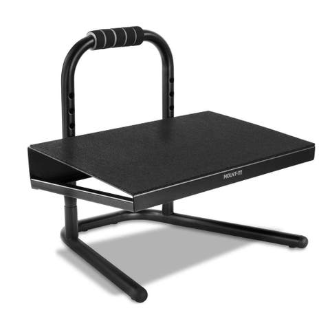 Mount-It! Height Adjustable Foot Rest for Standing and Sitting, Six Height Settings - MI-7807