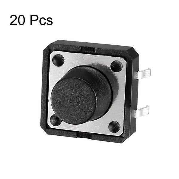 50 x 12x12x4.3mm Momentary Push Button Tactile Switch PCB Mounted SPST