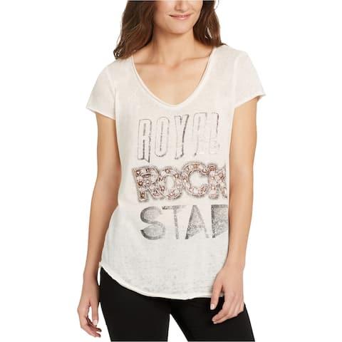 William Rast Womens Royal Rock Star Graphic T-Shirt