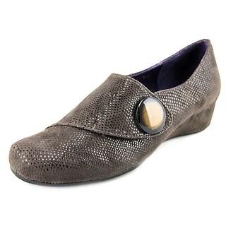 Vaneli Maxy Women N/S Open Toe Suede Wedge Heel