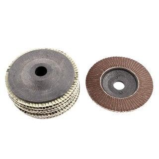 "4"" x 5/8"" 240 Grit Zirconium Oxide Flap Sanding Discs Polish Grinding Wheel 8pcs"