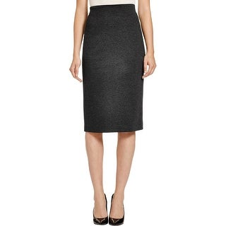 Vince Camuto Womens Pencil Skirt Ponte Long