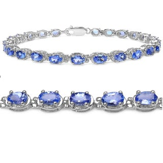 Amanda Rose Collection 6ct TGW Tanzanite Tennis Bracelet Crafted in Sterling Silver( 7 1/4 inch)