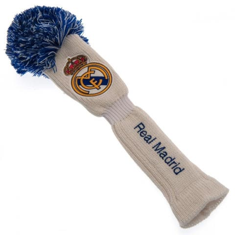 Real Madrid Fc Official Fairway Pompom Headcover - White/Blue