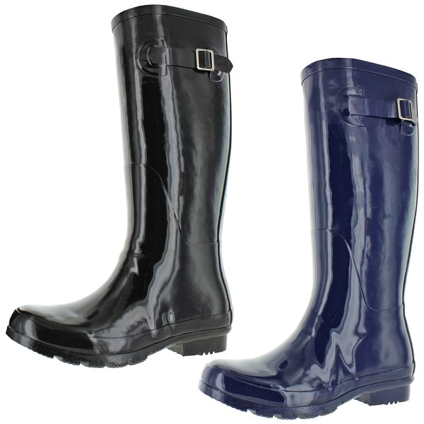 Nomad Women's Hurricane II Shiny Rubber Tall Wellie Rain Boots. Opens flyout.