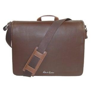 Robert Graham Men's Leather Mulberry Messenger Bag - brown