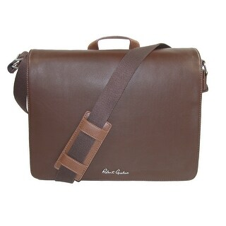 Robert Graham Men's Leather Mulberry Messenger Bag