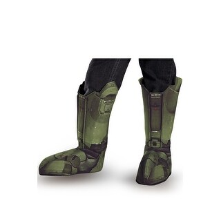 Disguise Master Chief Adult Boot Covers - Green