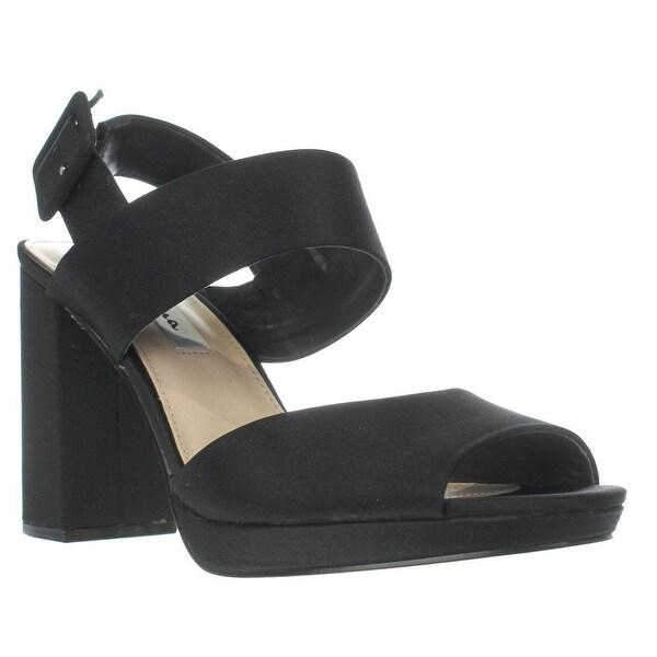Nina Athena Slingback Sandals, Black Luster - 8 us / 38.5 eu