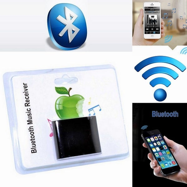 Wireless Bluetooth A2DP Music Receiver 30 Pin for Apple Speaker Docks SoundDock Series I II 10 US