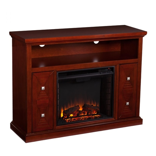 Southern Enterprises FE9398 Creston Media Fireplace - Cherry
