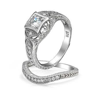 Bling Jewelry Antique Style 925 Silver Round CZ Vintage Style Waved Anniversary Wedding Ring Set|https://ak1.ostkcdn.com/images/products/is/images/direct/ceef533547825459d017b574613eef7b18e6888c/Bling-Jewelry-Antique-Style-925-Silver-Round-CZ-Vintage-Style-Waved-Anniversary-Wedding-Ring-Set.jpg?impolicy=medium