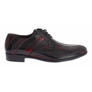Dolce & Gabbana Black Bordeaux Leather Dress Formal Shoes - 40