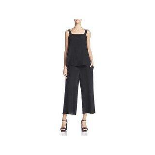 Theory Womens Dinnlean Jumpsuit Silk Cropped