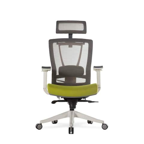 """Vifah A74 Autonomous Smart Office 32"""" Wide Leather Mesh Full Back Adjustable Office Chair with Extended Weight Limit"""